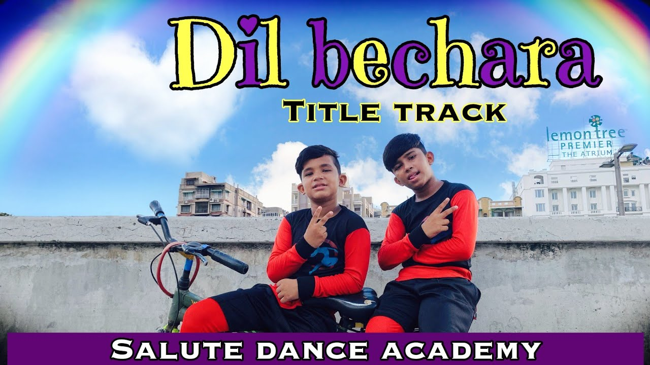 Dil Bechara   Title Track   Sushant  Singh Rajput   Salute Dance Academy   Dance Cover   Viral video