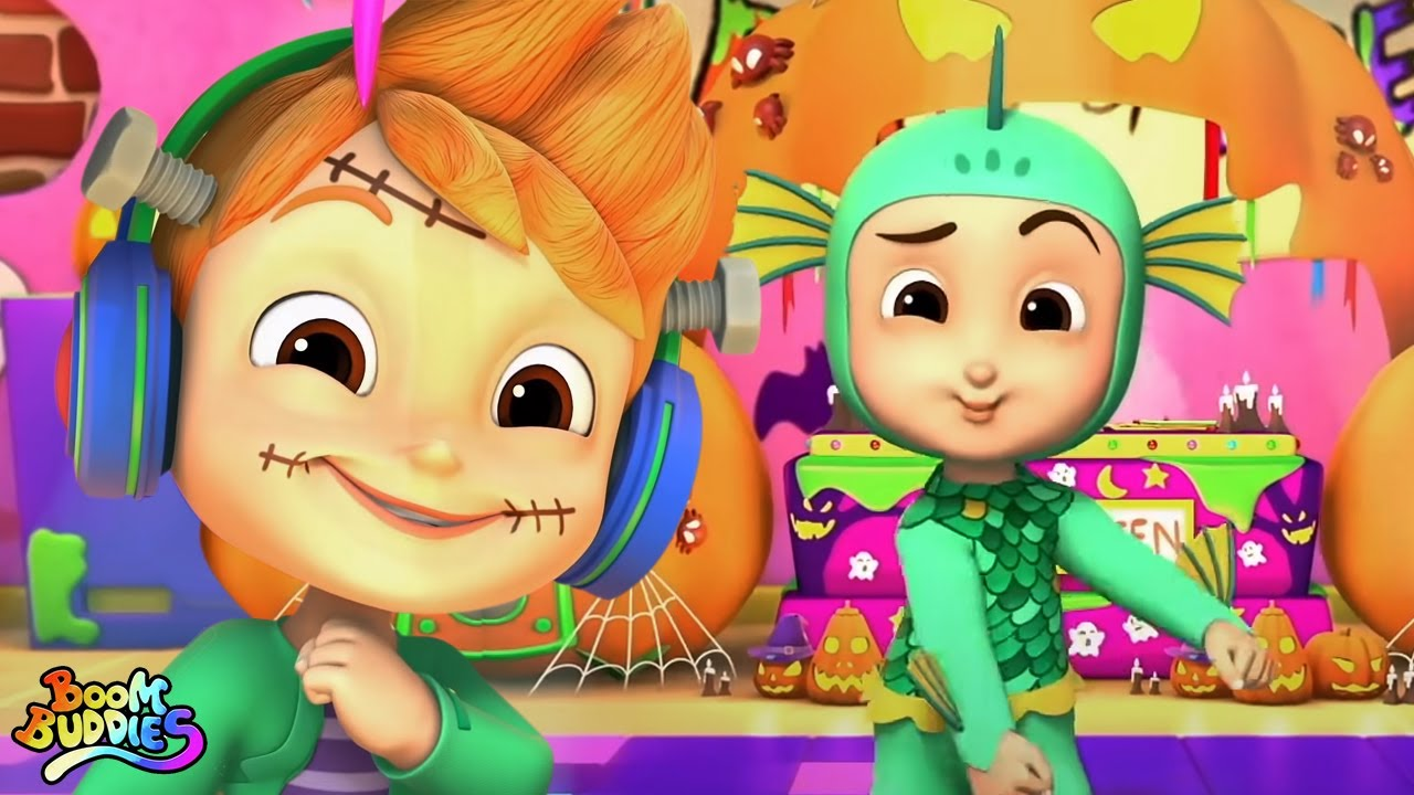 Baile congelado monstruo   Musica de halloween   Boom Buddies Español   Dibujos animados