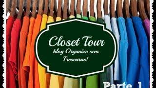 Closet Tour:como organizar o closet #parte 1 (roupas em gavetas e prateleiras) Thumbnail