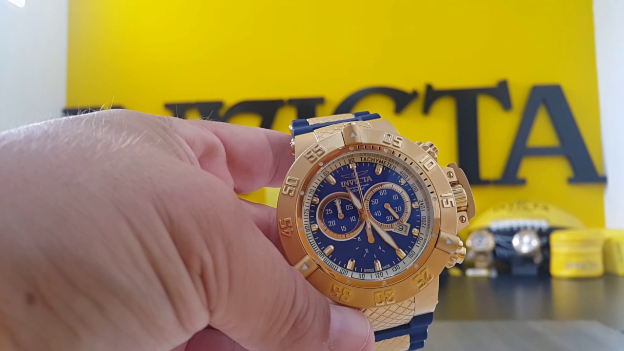 b560596b500 Relógio invicta subaqua 5515 original swiss made - YouTube