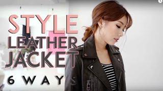 Style: Leather Jacket 6 Ways   MONGABONG