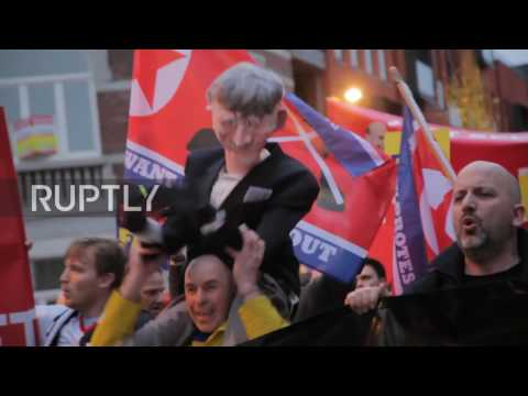 Belgium: Hundreds of Charlton fans travel to Sint-Truiden to rally against owner-Duchatelet