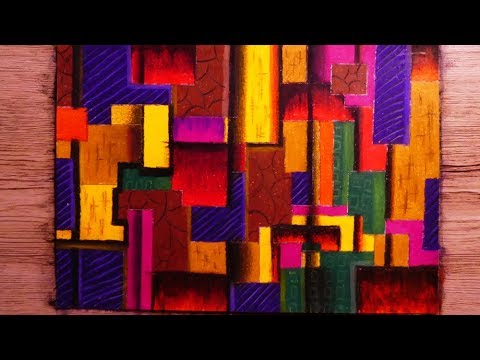 Very Easy Cubism Abstract Painting Tutorial | Pastel Colors