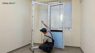 видео Пластиковые балконные двери