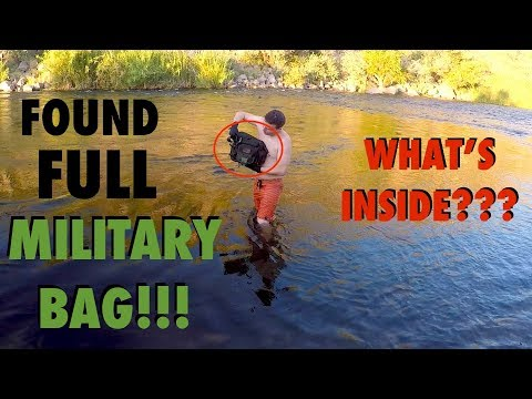 River Treasure: Found FULL Military Bag in the River!!! (Deadly Weapons Found - Police Called)