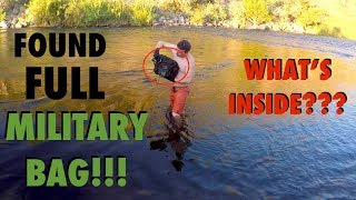 River Treasure: Found FULL Military Bag in the River!!! (Deadly Weapons Found - Police Called) thumbnail