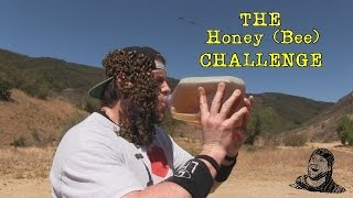 Dude Drinks a Gallon of Honey While Covered in Bees (Warning: Vomit Alert)
