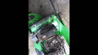 John deere js25 walk behind mower craigslist find part 1