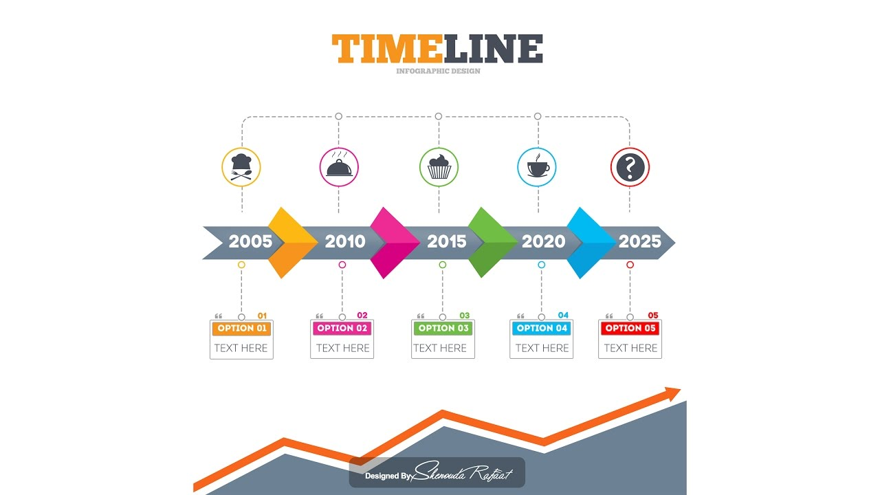 photoshop tutorial graphic design timeline infographic