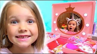 Kids Make up toys for Pretend play and open magic Unicorn Surprises by Katy
