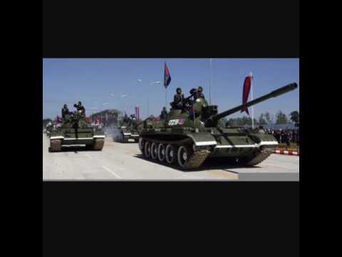 Cambodia Military power ( Tank,BM21,) រថក្រោះ រថពាសដែកកម្ពុជា