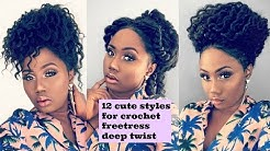 FREETRESS DEEP TWIST || 12 Simple and Cute Ways  to Style Crochet Freetress Deep Twist