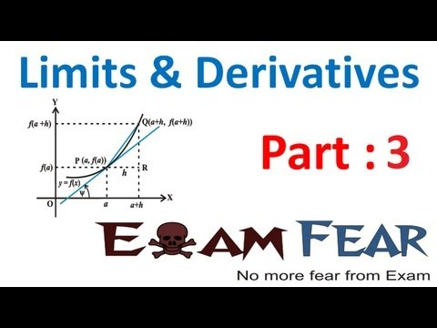 Maths Limits and Derivatives part 3 (Examples Limits) CBSE class 11 Mathematics XI