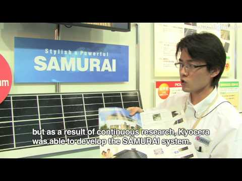 """SAMURAI"" Solar Power Generating System for Home Use by Kyoc"