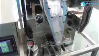 PM-100L 4 Side Seal VFFS Liquid Sachet Packing Machine couple with Date Code Printer