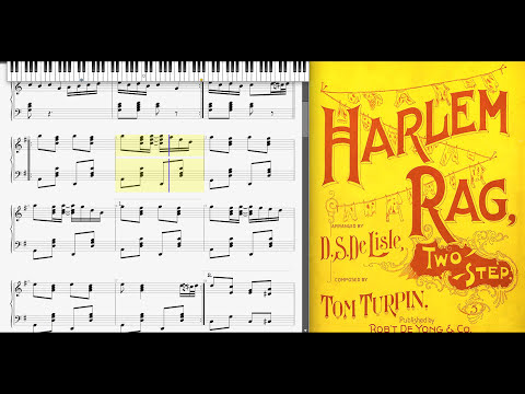 Harlem Rag by Tom Turpin (1897, Ragtime piano)