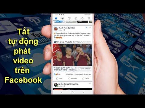 Cách bật tắt tự động phát video trên Facebook bằng điện thoại
