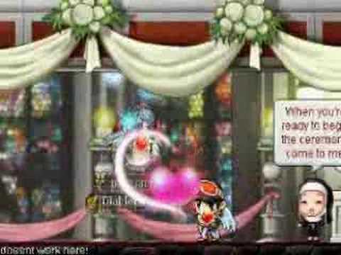 Pinkuahiru & xXxRhinOxXx Maplestory Wedding