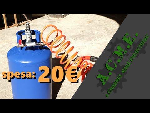 Serbatoio aria aggiuntivo per compressore - fai da te