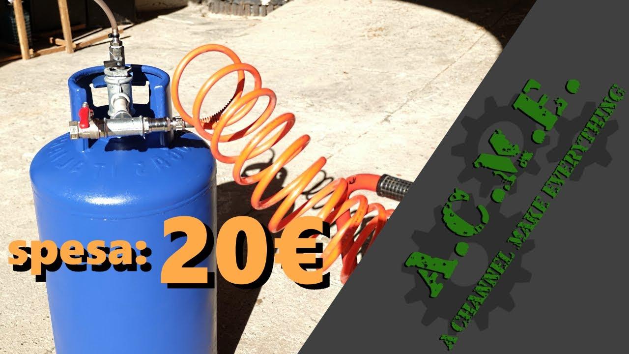 Serbatoio aria aggiuntivo per compressore fai da te for Filtro acquario fai da te
