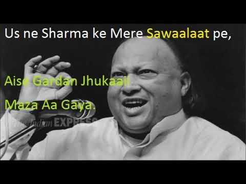 Mere Rashke Qamar Full Video Song With Lyrics & Meaning By Nusrat Fateh Ali Khan