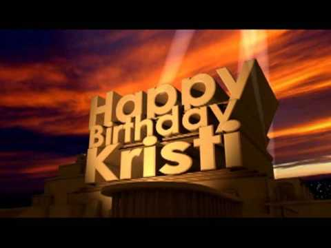 Happy birthday kristi
