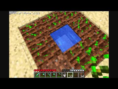 MineCraft Tutorial: How To Plant & Grow Crops.