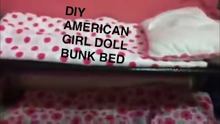Really Simple Ag Doll Bunk Bed Idea!