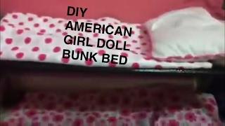 Really simple ag doll bunk bed idea!