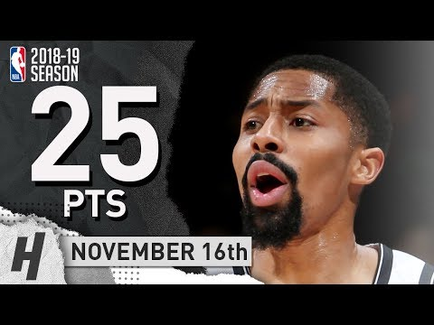 Spencer Dinwiddie Full Highlights Nets vs Wizards 2018.11.16 - 25 Pts, 8 Ast, 4 Rebounds!