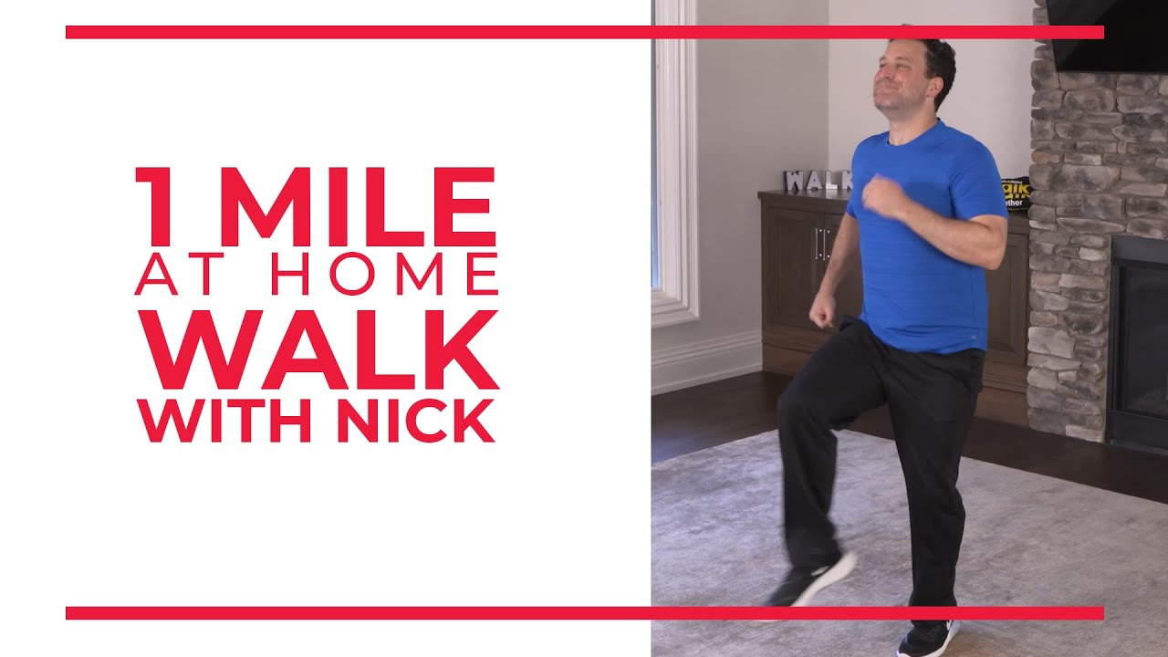 1 Mile At Home Walk with Nick | Walking Workout