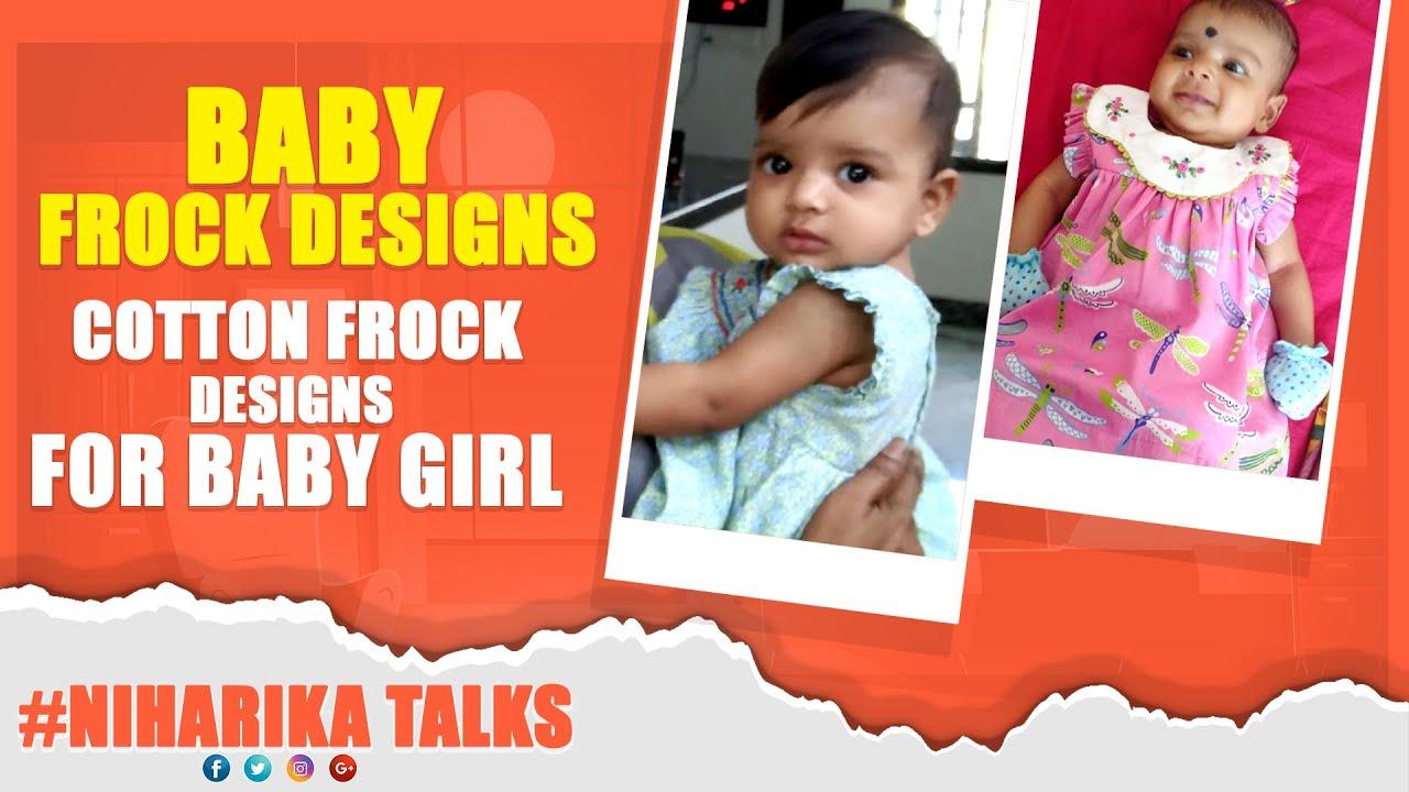Baby frock Designs Cotton frock designs for baby girl | Niharika Talks