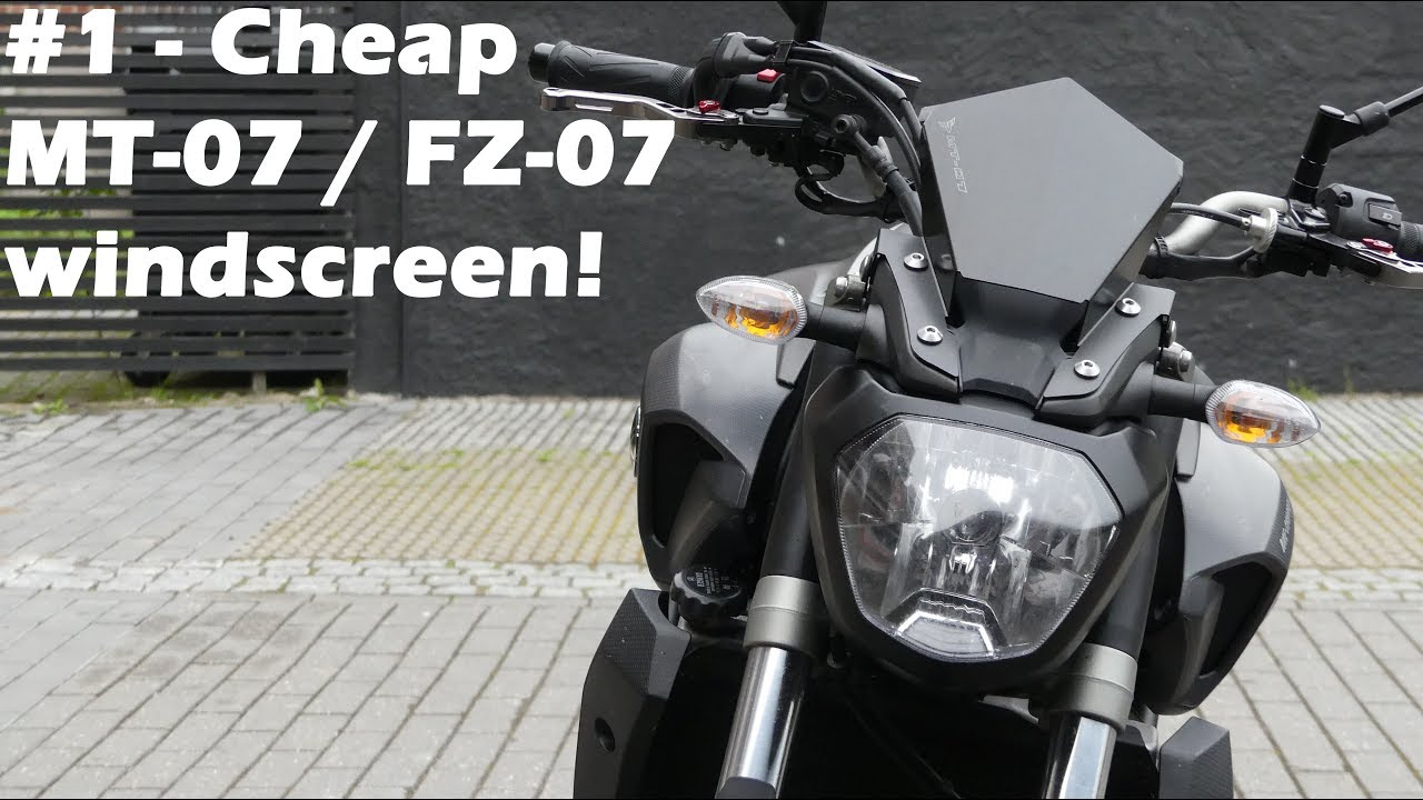 the best looking windscreen for yamaha mt07 fz07 youtube. Black Bedroom Furniture Sets. Home Design Ideas
