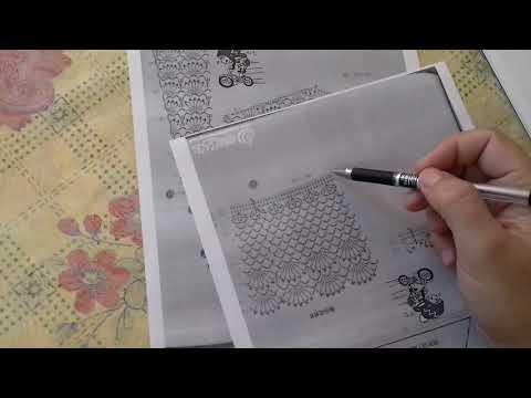 Схемы крючком из китайских журналов