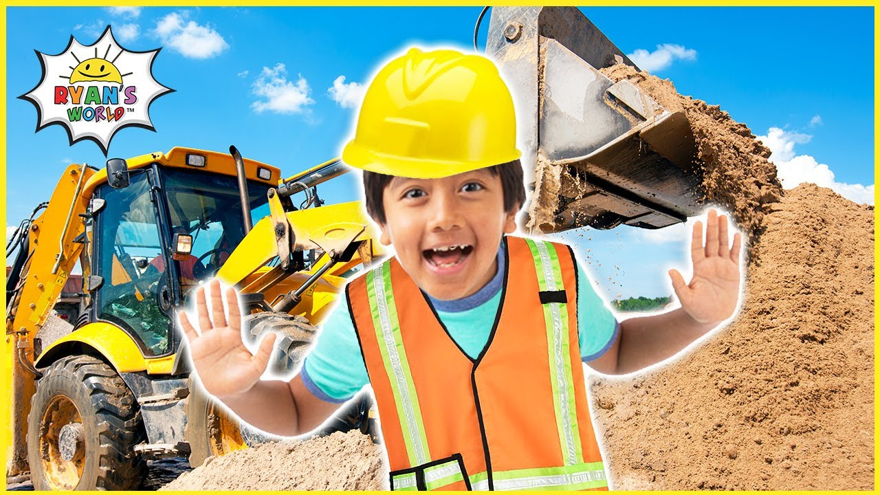 Download Ryan learns about Construction Vehicles for Kids