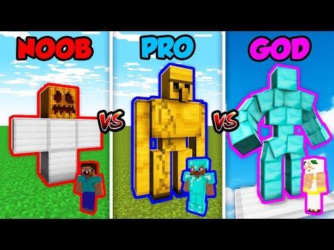 Minecraft NOOB vs. PRO vs. GOD: IRON GOLEM in Minecraft! (Animation)