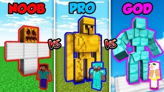 Minecraft NOOB Vs. PRO Vs. GOD  RON GOLEM In Minecraft Animation