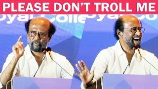 Tamil superstar Rajinikanth latest speech at royal college of physicians