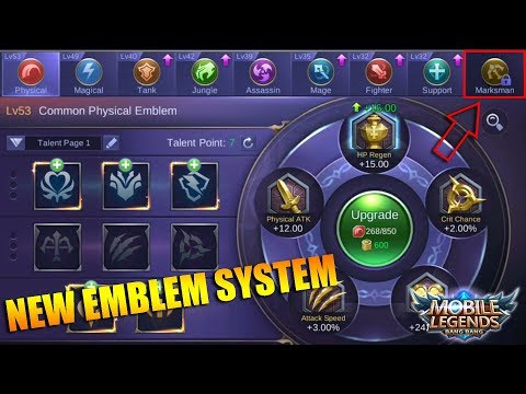 NEW EMBLEMS SYSTEM Preview and Explanation in Next Update (Mobile Legends)
