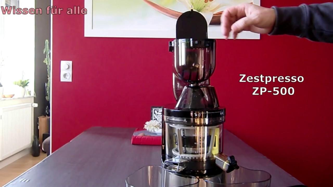 Zestpresso ZP 500 slow juicer * Wissen für alle #001 - YouTube