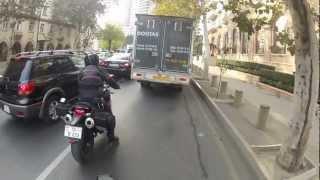 Поездка по городу с Ducati Monster 796 8 декабря 2012 года