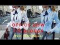 Office Bow Tie Blouse Women Lantern Sleeve White Button Necktie Shirts Female Elegant Work Shirt.