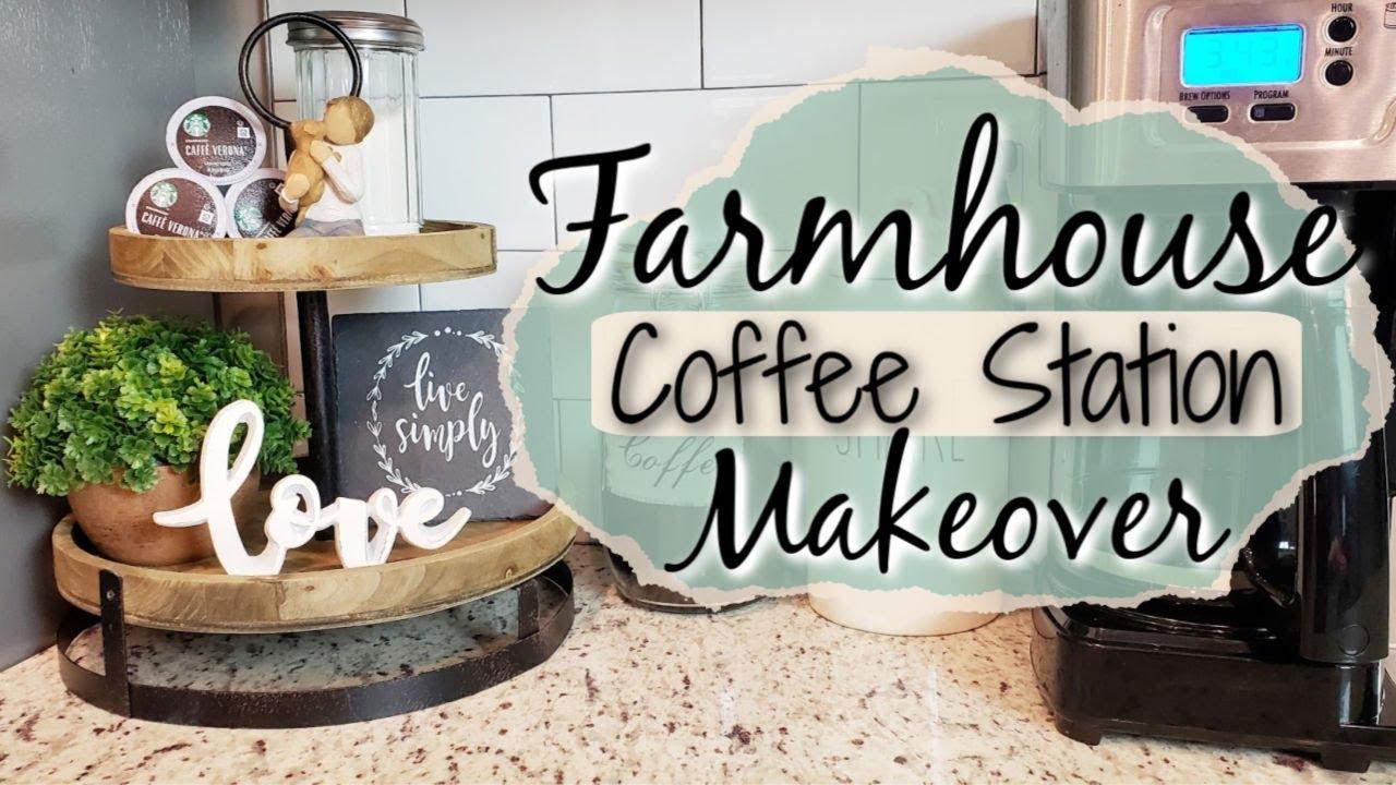 Farmhouse Coffee Bar Coffee Station Decor Youtube