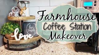 FARMHOUSE COFFEE BAR | COFFEE STATION DECOR