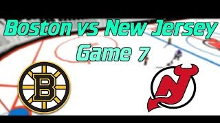 Roblox HHCL S16 Playoffs Game 7 Semi Finals Boston Bruins vs New Jersey Devils