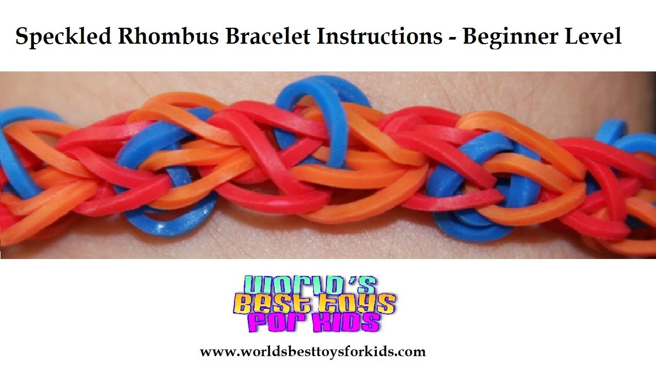 rainbow loom rubber band refill speckled rhombus