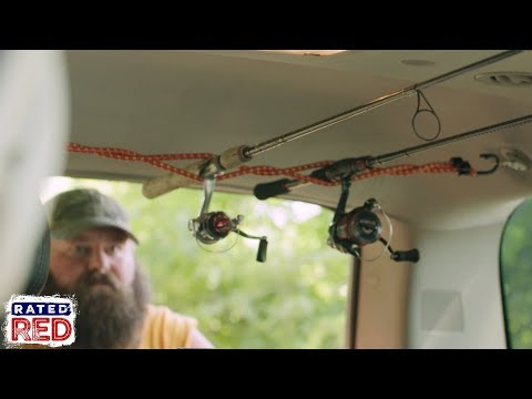 How To Install A Bungee Cord Fishing Rod Holder In Your SUV