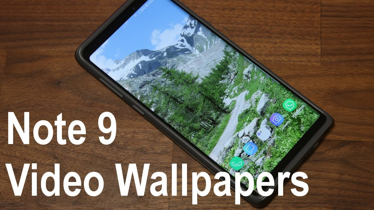 Customize Your Galaxy Note 9 Using Gorgeous Video Wallpapers For Your Lock Screen Youtube