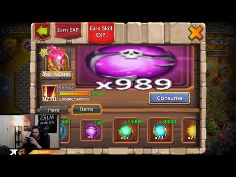 JT's Main Storm Eater Maxing Him OUT BEST Talents Traits Castle Clash
