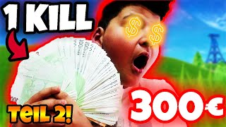 🤑1 KILL = 300€ CHALLENGE IN FORTNITE! (Teil 2) | Wick Brothers Gaming
